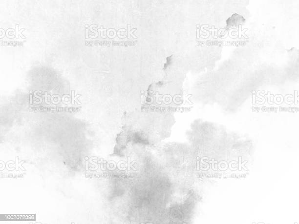 Photo of Watercolor texture - abstract grey white background
