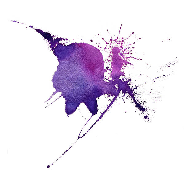 watercolor texture. - purple watercolor stock photos and pictures