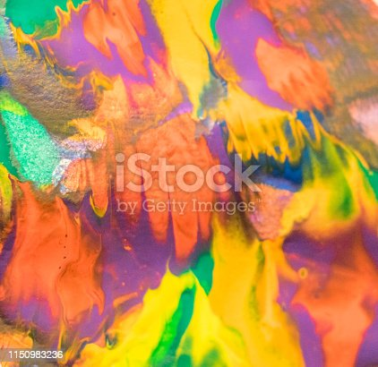 935916462istockphoto Watercolor Textured Background .Macro close up of different color oil paint. colorful acrylic 1150983236