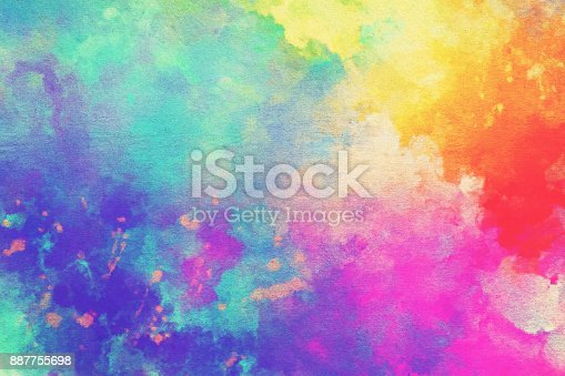 istock Watercolor Textured Background 887755698