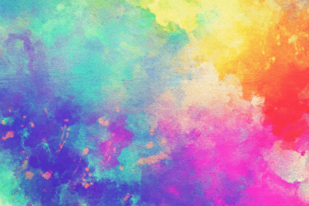 watercolor textured background - multi colored stock pictures, royalty-free photos & images