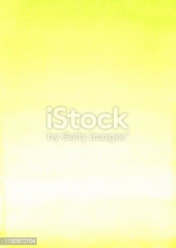 Color Gradient in Watercolor Painting Yellow Green