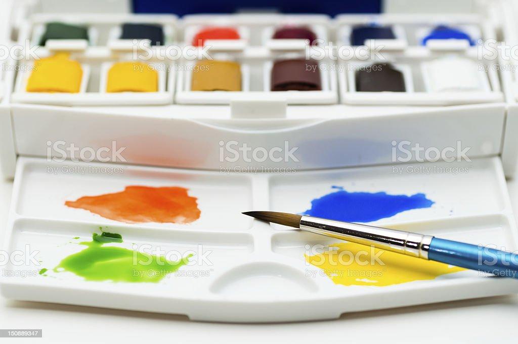 Watercolors royalty-free stock photo
