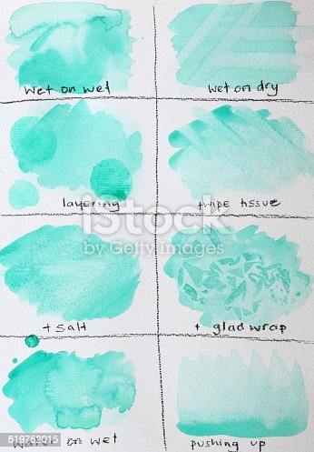 Watercolour Paint Chart