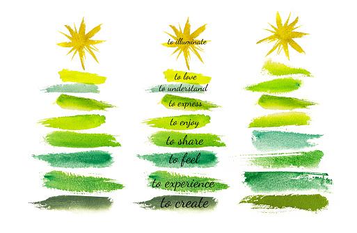 Watercolour Christmas Tree