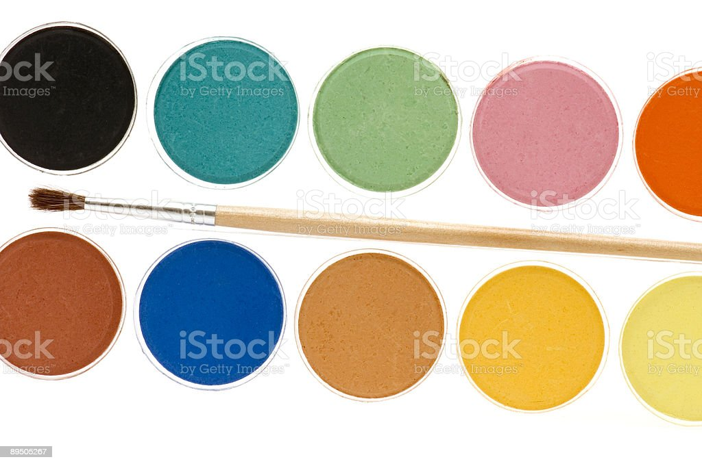 water-colour close-up royalty-free stock photo