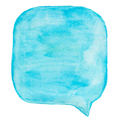 istock Watercolour Light Blue Speech Bubble 184351062