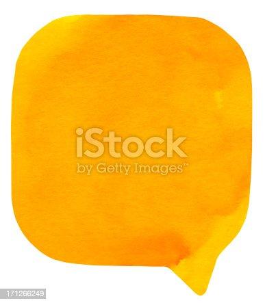 istock Watercolour Light Orange Speech Bubble 171266249