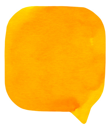 Textured watercolour speech bubble  on real watercolour paper. No CS brushes added.More like this in my portfolio!
