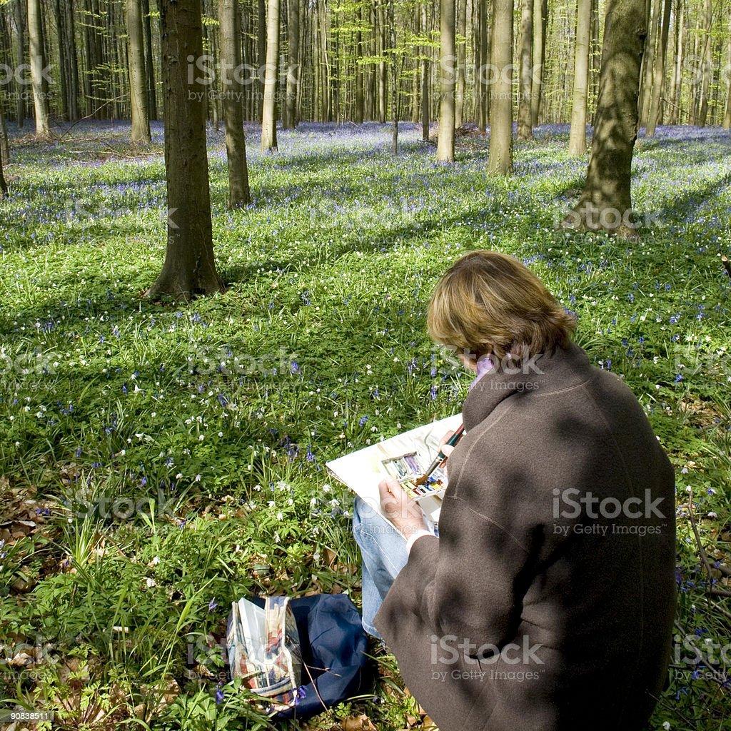 watercolourist royalty-free stock photo