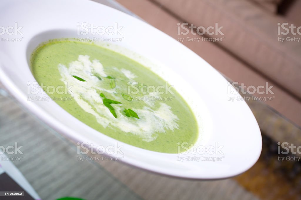 Watercress soup stock photo