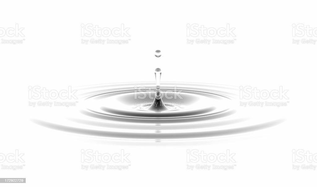 waterdrop on white background royalty-free stock photo
