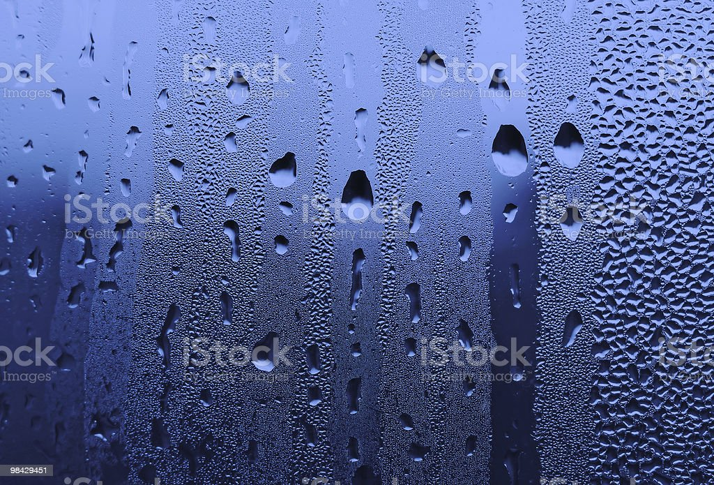 water-drops on glass royalty-free stock photo
