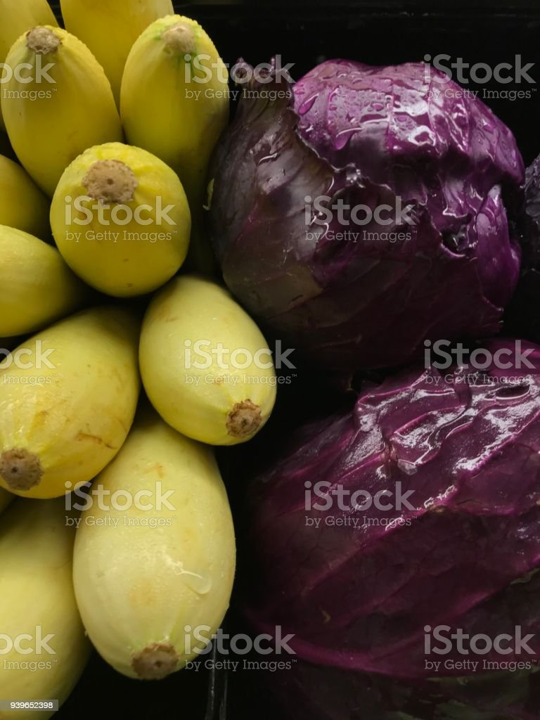 Watered vegetables stock photo