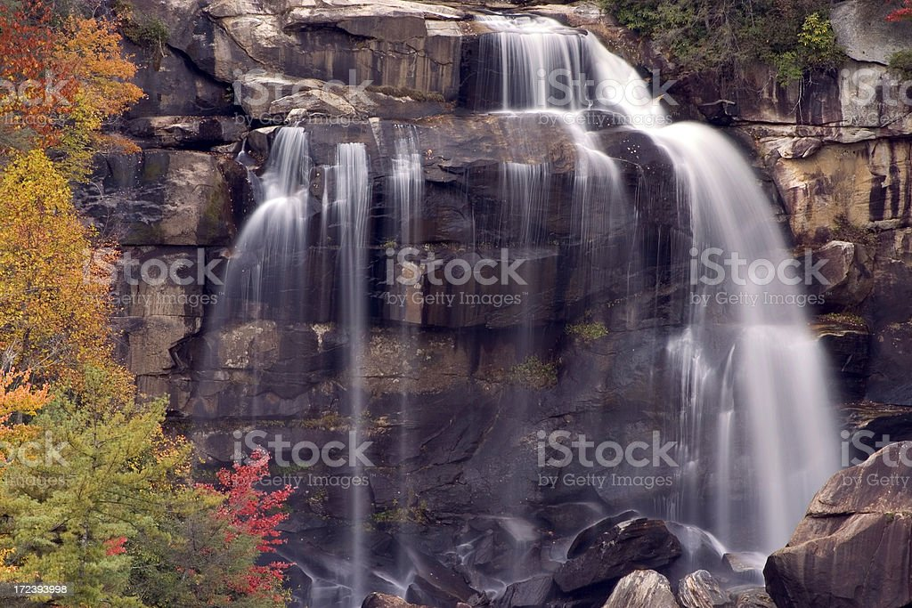Waterfall And Autumn Color stock photo