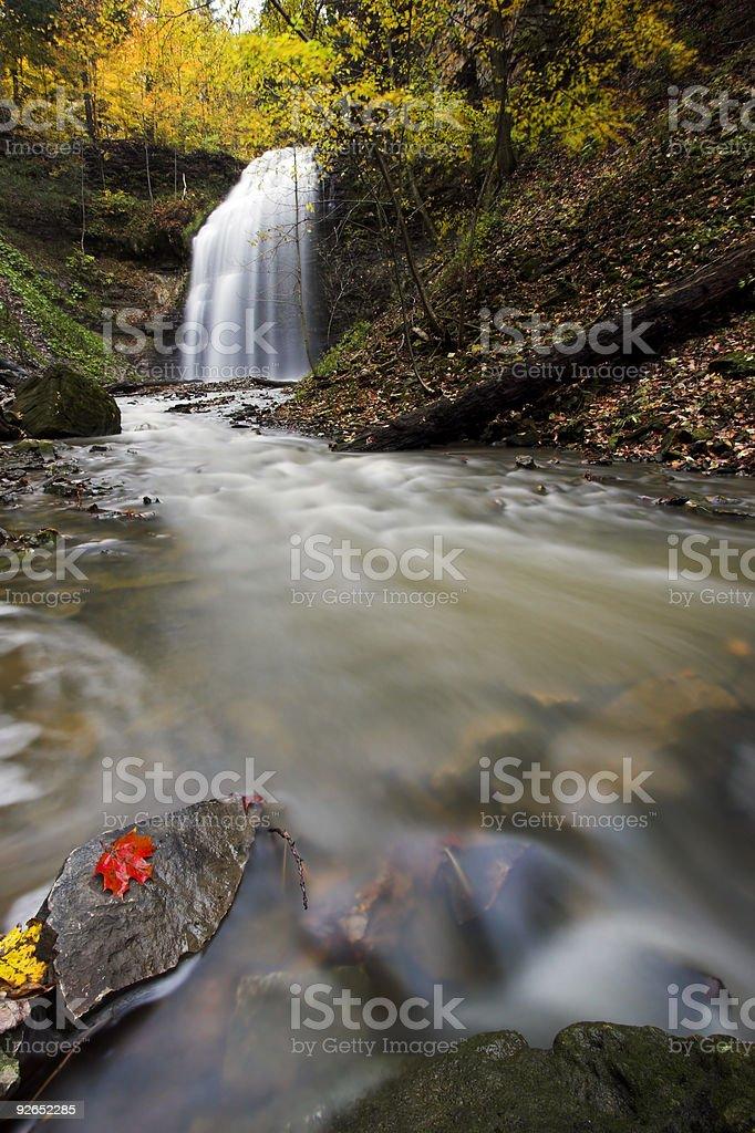 Waterfall and creek royalty-free stock photo