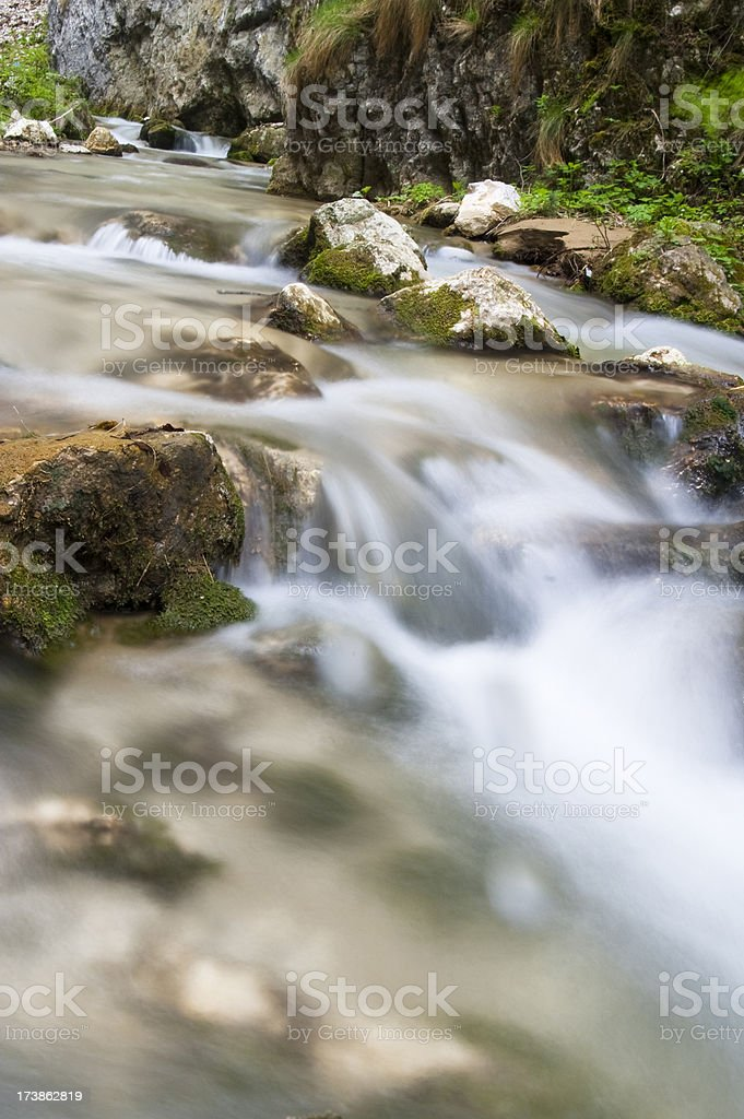 Waterfall and nature. royalty-free stock photo