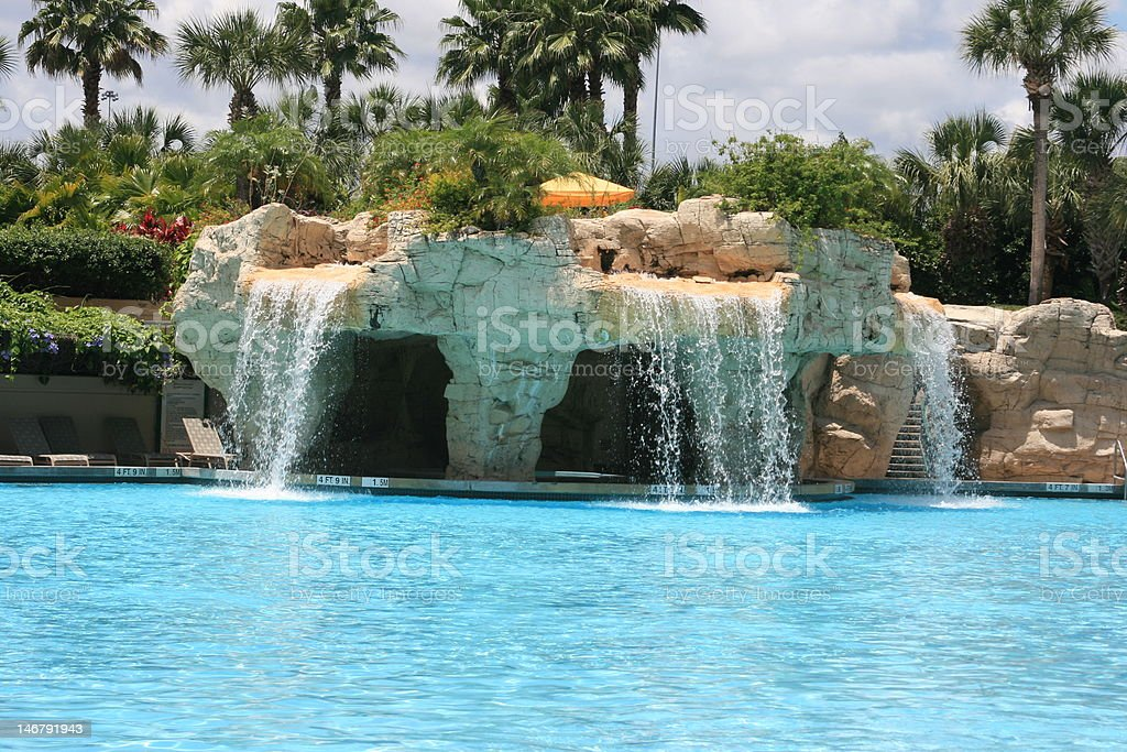 Waterfall and Pool royalty-free stock photo