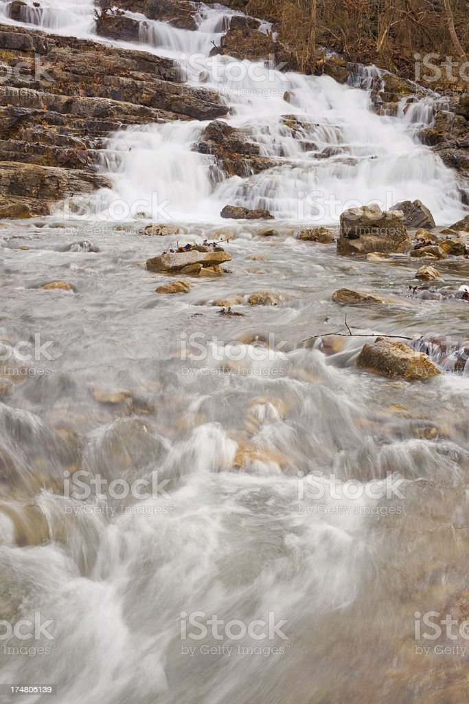 Waterfall and Stream royalty-free stock photo