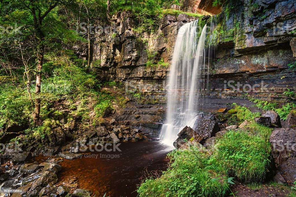 Waterfall at Ashgill stock photo