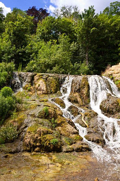 Waterfall at Blenheim Palace, Woodstock, Oxfordshire, England, United Kingdom. stock photo