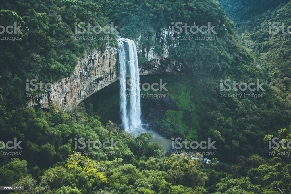 Waterfall at Gramado City in South Brazil foto de stock royalty-free