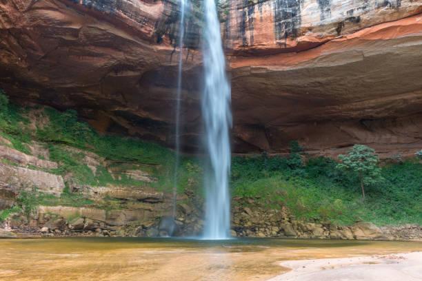 Waterfall at Jardin de las Delicias (Garden of Delights), Santa Cruz, Bolivia stock photo