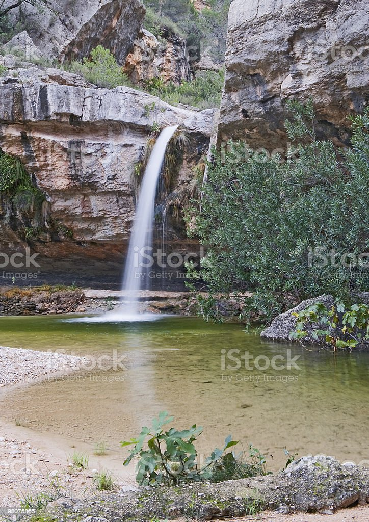 Waterfall At Los Charcos royalty-free stock photo