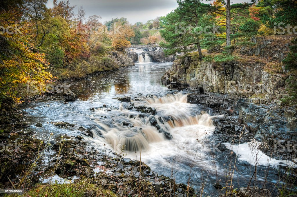 Waterfall at Low Force, Teesdale, Durham, UK stock photo