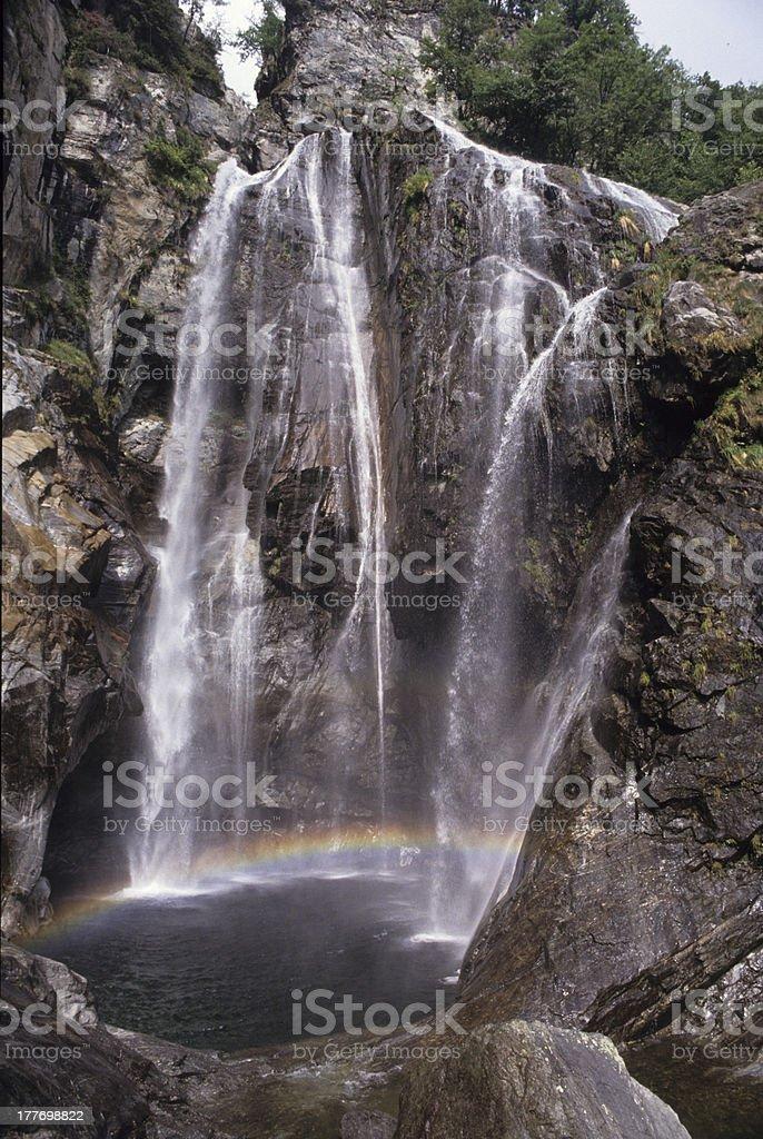 Waterfall at Maggia royalty-free stock photo