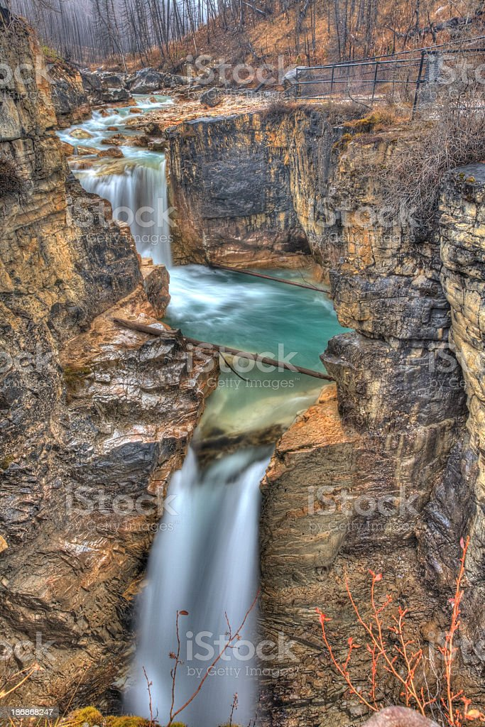 Waterfall at Marble Canyon stock photo