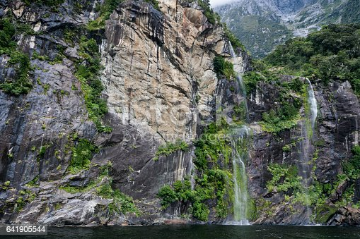 Waterfall At Milford Sound In Fiordland National Park New Zealand Stock Photo More Pictures Of Australasia