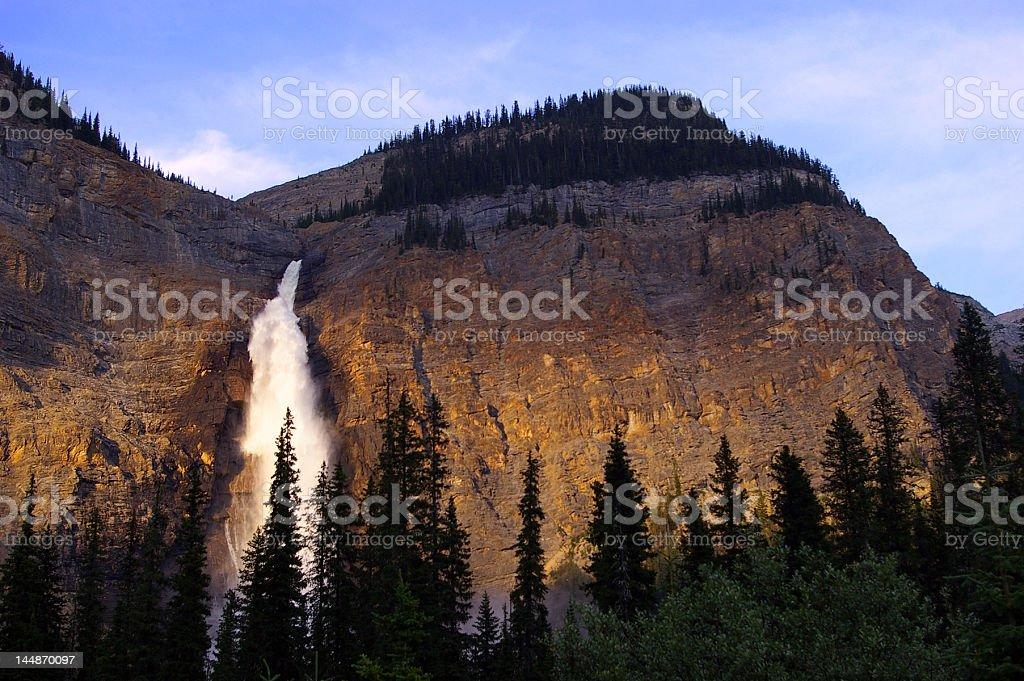 Waterfall at sunset royalty-free stock photo