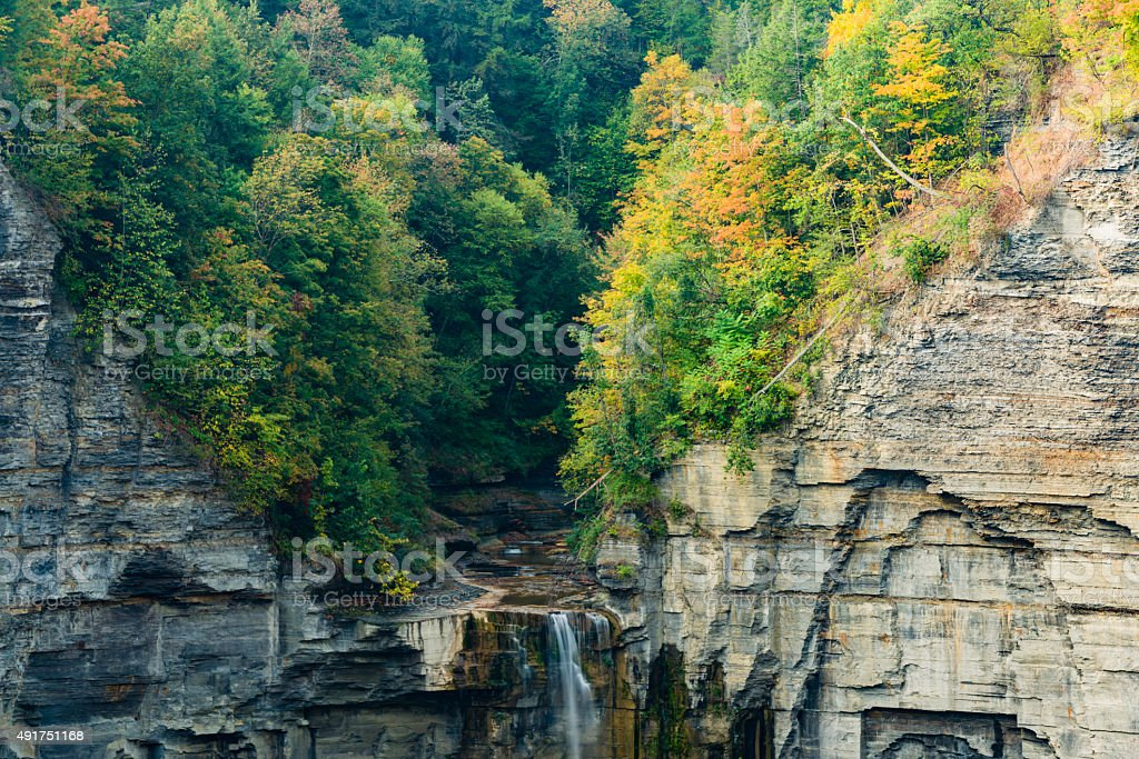 Waterfall at Taughannock Falls State Park, New York stock photo