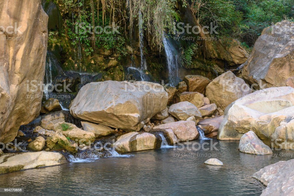 Waterfall at Torotoro Canyon, Potosi, Bolivia stock photo