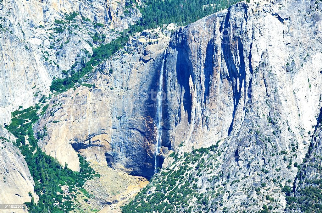 Waterfall at Yosemite National Park stock photo