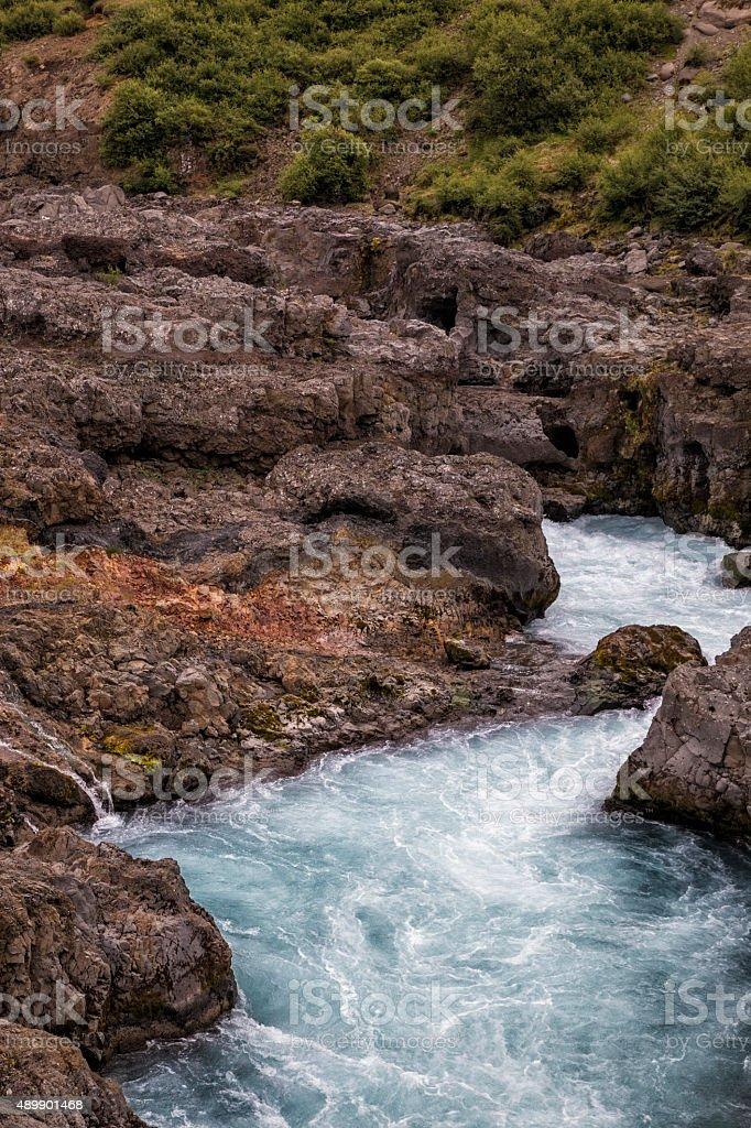 Wasserfall Barnafoss – Foto
