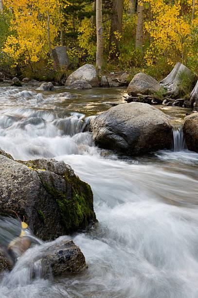 Waterfall, Bishop, CA stock photo