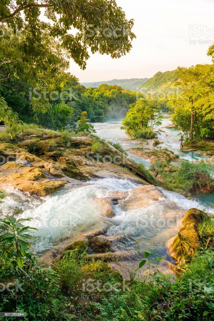 Agua Azul Waterfall stock photo