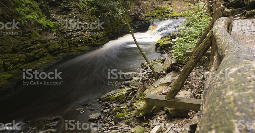 Waterfall: Bushkill Falls royalty-free stock photo