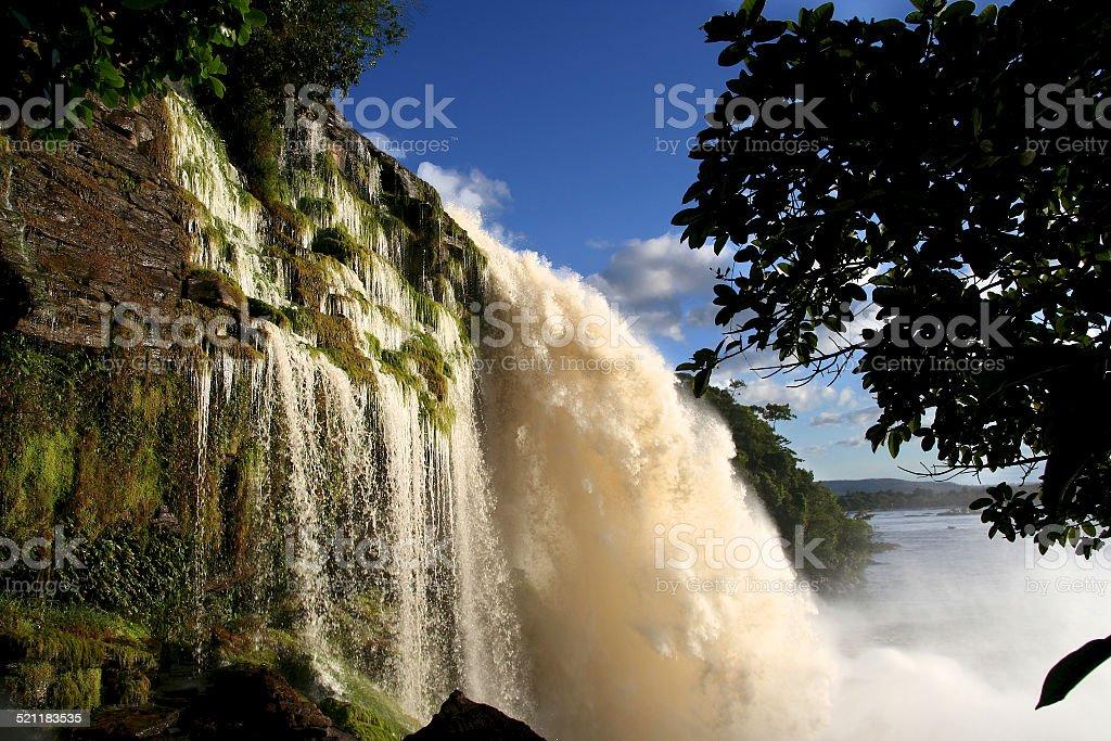 Waterfall, Canaima National Park, Venezuela stock photo