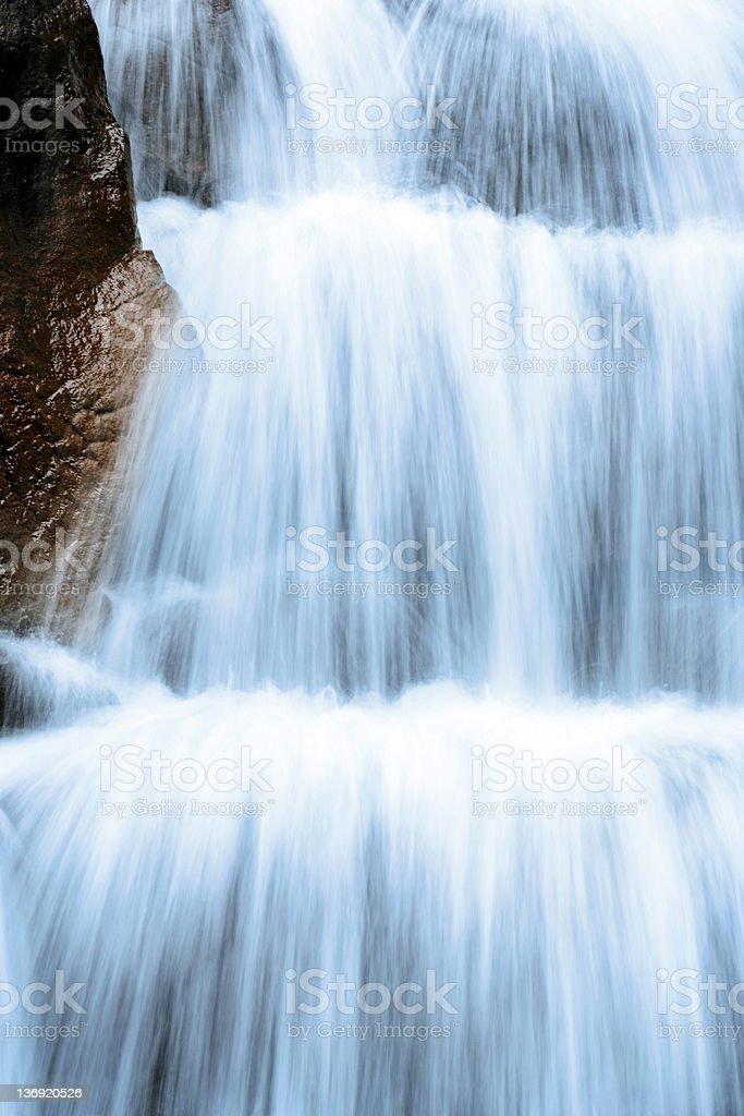 XXL waterfall close-up royalty-free stock photo