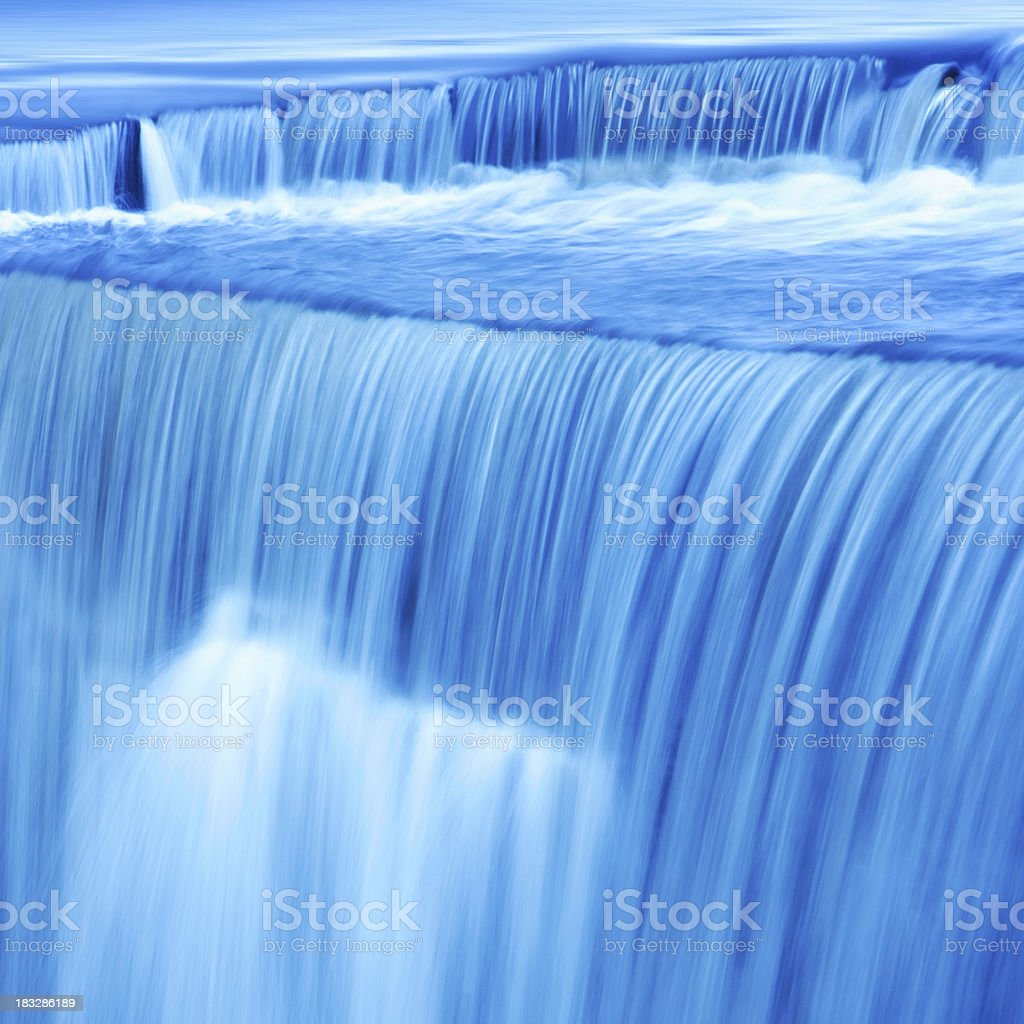 XL waterfall close-up stock photo