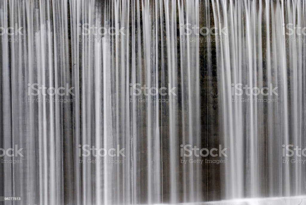 waterfall detail and blurred royalty-free stock photo
