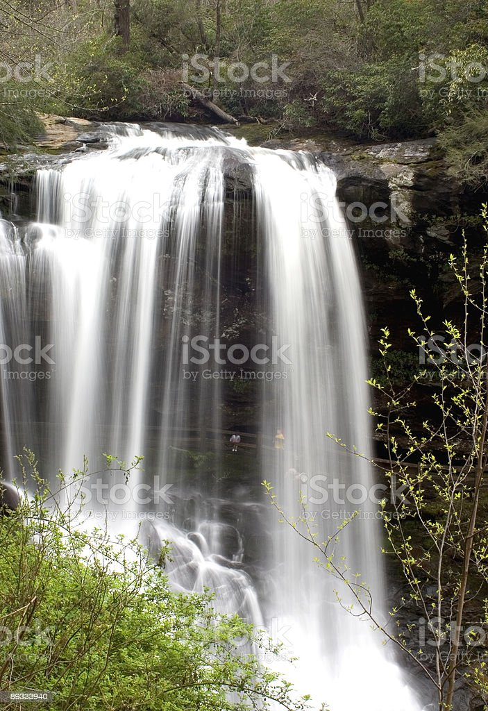 Waterfall - Dry Falls With Hikers stock photo