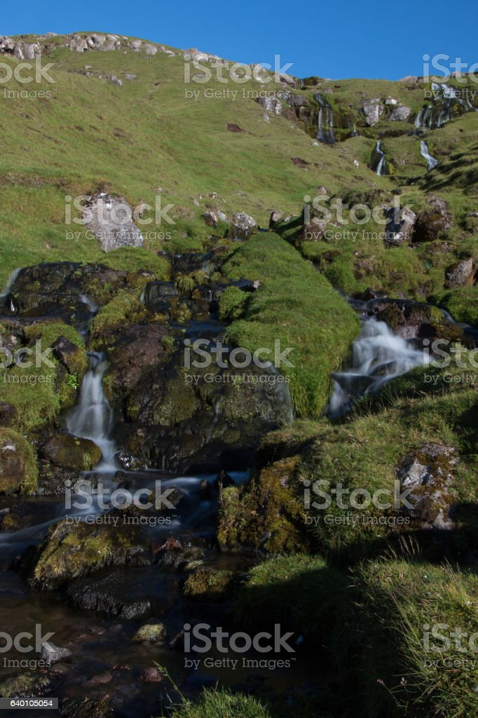 Waterfall, Faroe Islands stock photo