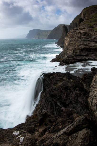 Waterfall, Faroe Islands stock photo