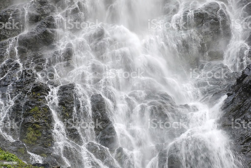 Waterfall filling the frame royalty-free stock photo