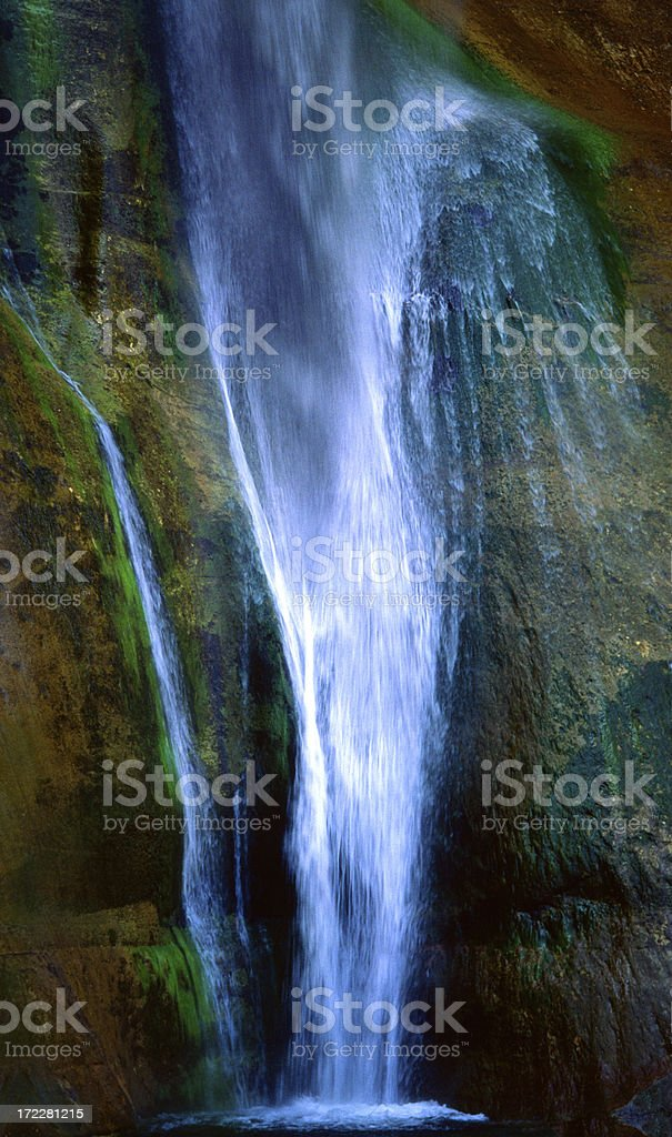 Waterfall flowing in motion royalty-free stock photo