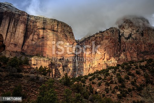 Driving through the canyons of Zion National Park, this escarpment id typical of the extreme terrain encountered. Otherwise just another rock